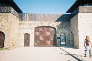 Entrance to Mauthausen-Gusen concentration camp (Austria)