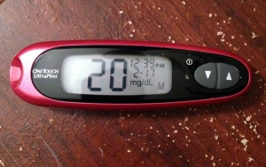 Glucometer reads 20