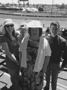 My family at the track for the Kentucky Oaks