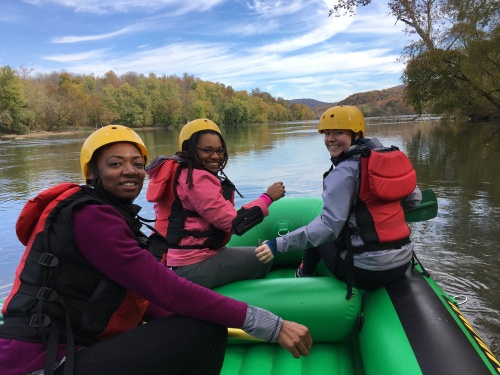white water rafting on Potomac River